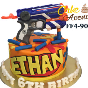 Awesome Nerf Gun Cake Avenue Personalised Birthday Cards Veneteletsinfo