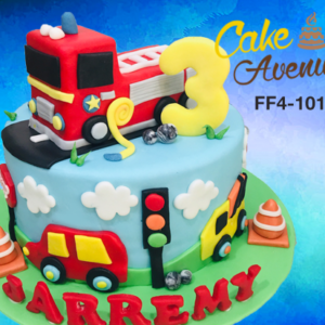 Fantastic Fire Engine Cake Avenue Personalised Birthday Cards Arneslily Jamesorg